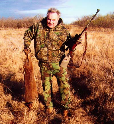 Western Massachusetts Restoration Lawyer Stephen F. Burke Shown Hunting Wild Boar in Texas.